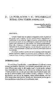 21. LA POBLACION Y EL DESARROLLO RURAL: UNA VISION ANDALUZA