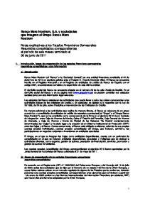 Banco Mare Nostrum, S.A. y sociedades que integran el Grupo Banco Mare Nostrum