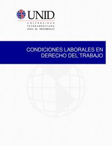 CONDICIONES LABORALES EN DERECHO DEL TRABAJO