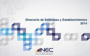 Directorio de Empresas y Establecimientos 2014