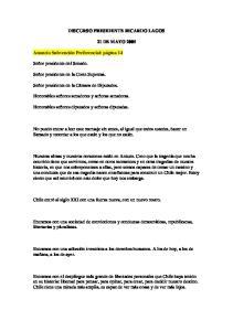 DISCURSO PRESIDENTE RICARDO LAGOS 21 DE MAYO 2005