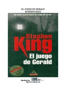 EL JUEGO DE GERALD STEPHEN KING