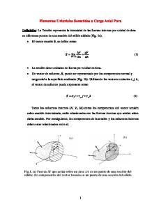 Elementos Uniaxiales Sometidos a Carga Axial Pura