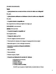 Examen de Radiología