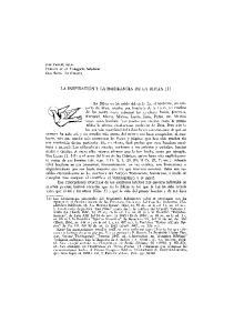 LA INSPIRACION y LA INERRANCIA DE LA BIBLIA (1)