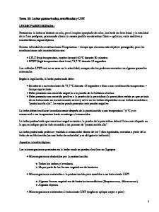 Leches pasteurizadas, esterilizadas y UHT
