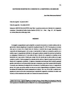 LOS PRECIOS EXCESIVOS EN EL DERECHO DE LA COMPETENCIA COLOMBIANO