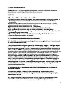 Mantenimiento industrial en Andalucía