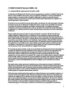 Modelo territorial en el futuro de Castilla y León