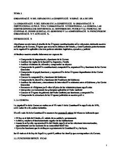Organización del Estado en la constitución española de 1978