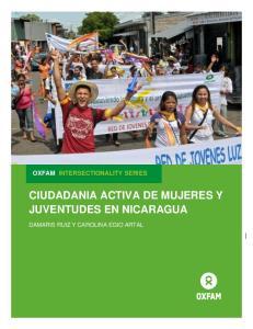 OXFAM INTERSECTIONALITY SERIES CIUDADANIA ACTIVA DE MUJERES Y JUVENTUDES EN NICARAGUA