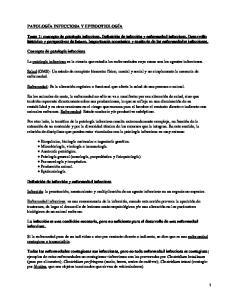 Patología Infecciosa y Epizootiología