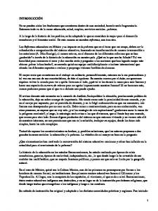Reformas educativas en México y pobreza