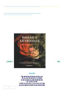 Rimas y Leyendas; Gustavo Adolfo Becquer