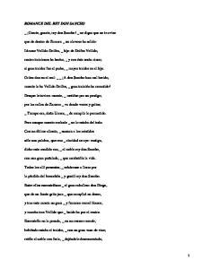 Romances de Don Sancho y Don Tristán