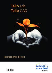 Telio Lab Telio CAD. Instrucciones de uso