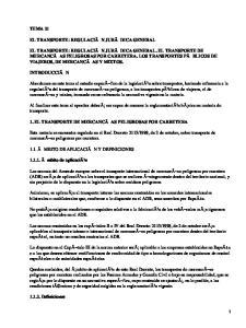 Transporte: Regulación jurídica general