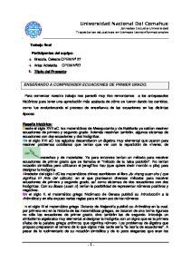 Universidad Nacional Del Comahue Jornadas Escuela-Universidad Trayectorias educativas en tiempos tecnoinformacionales